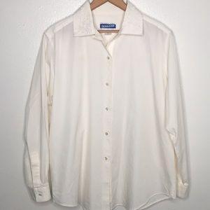 Pendleton Embroidered Collar Dress Shirt Sz12